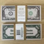 Сувенирная банкнота   1 000 долларов, пачка, 100 штук